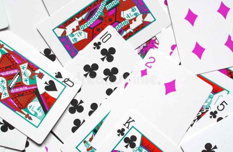 l'illusione delle carte da gioco fotografie stock libere da diritti