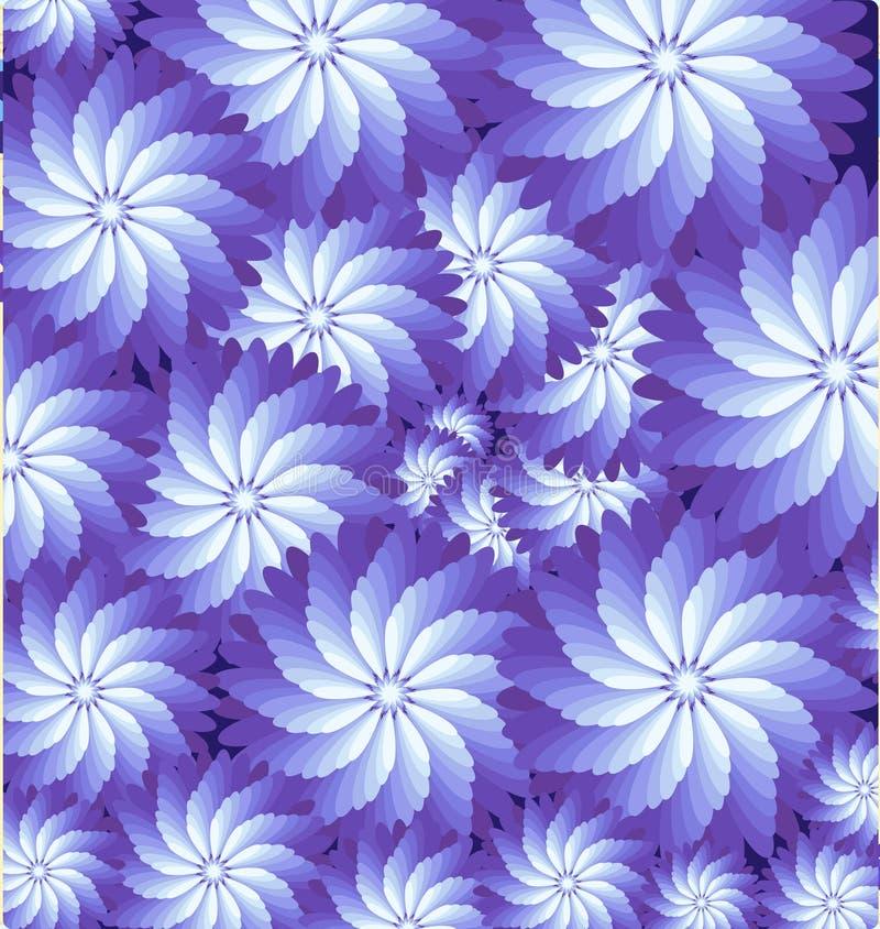 L'illusione visiva - vector la struttura a spirale con i fiori illustrazione vettoriale