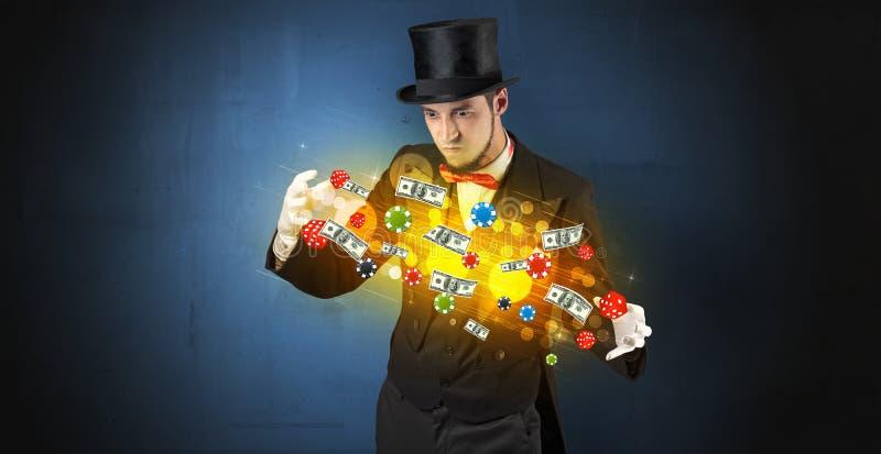 L'illusionniste créent avec ses personnels de jeu de main photo libre de droits