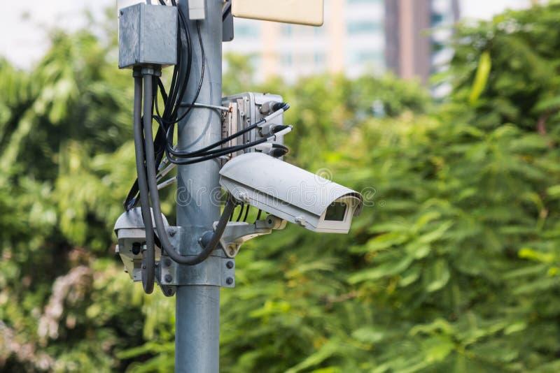 l'illustration élevée de télévision en circuit fermé d'appareil-photo de fond a isolé le blanc de qualité photo libre de droits