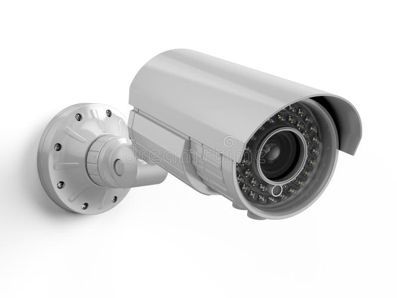 l'illustration élevée de télévision en circuit fermé d'appareil-photo de fond a isolé le blanc de qualité Caméra de sécurité illustration de vecteur
