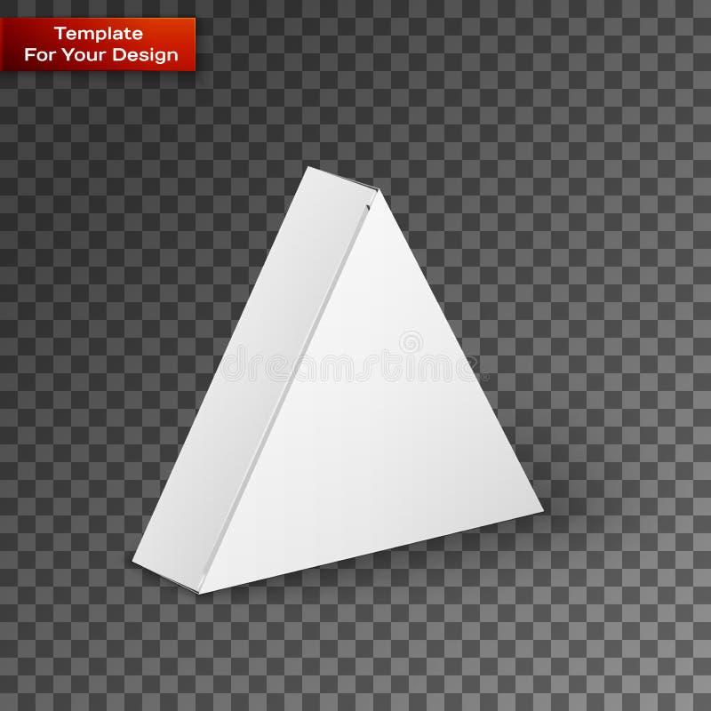 L'illustration blanche de boîte de paquet de produit a isolé dessus illustration de vecteur