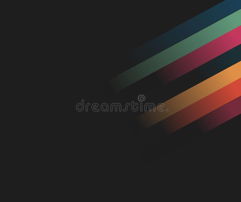 l'illustration bleue de fond abstrait raye le vecteur technologie d'illustration Vecteur illustration libre de droits