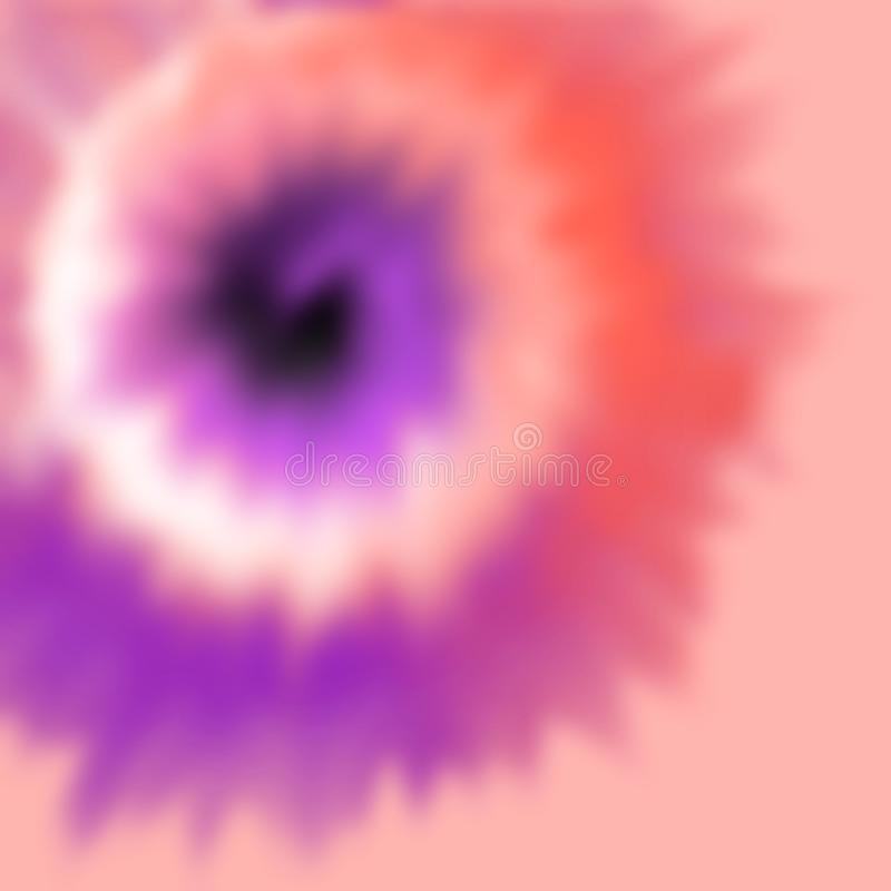 L'illustration dépeignant le processus de mort de tissu a appelé le lien mourant dans des couleurs multiples illustration de vecteur
