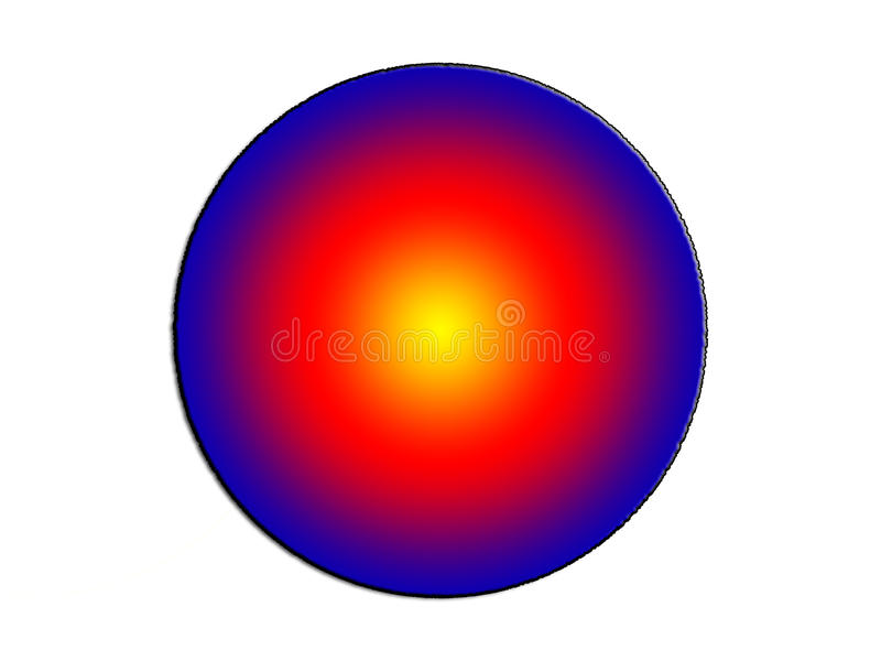 l'illustration 3d d'un fond d'image d'abrégé sur couleur primaire entoure illustration libre de droits