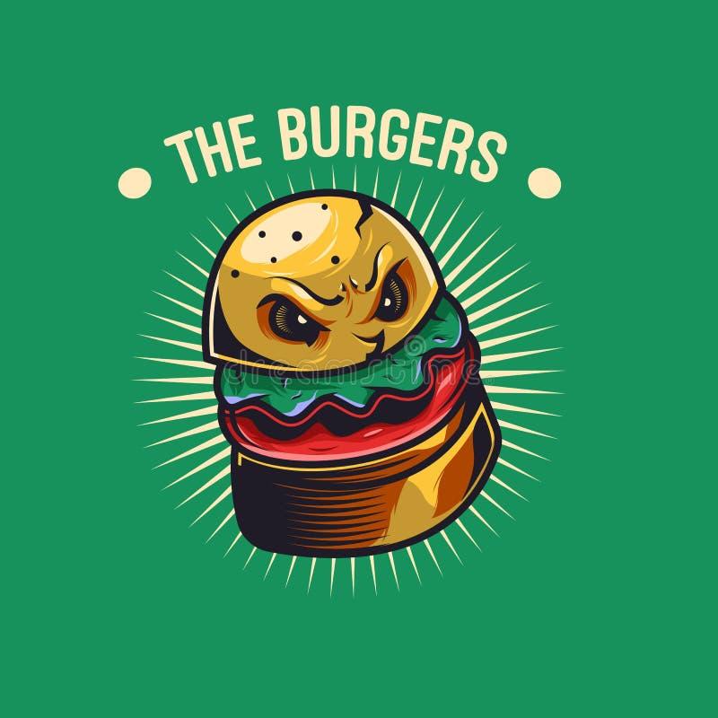 L'illustration d'hamburger de monstre illustration libre de droits