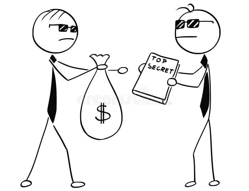 L'illustration de bande dessinée de deux agents remarque la vente d'hommes d'affaires illustration de vecteur
