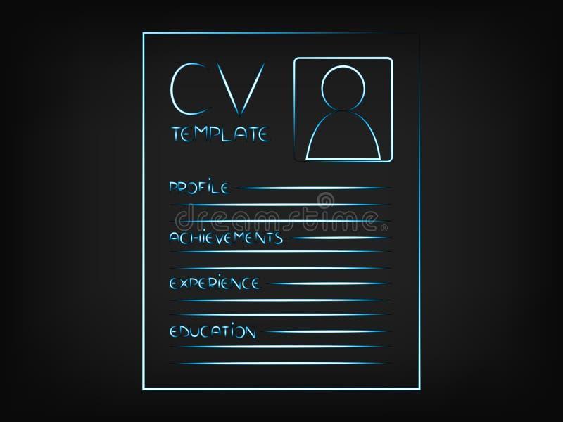 L'illustration de cv accentuant les sections qui devraient être incluent illustration de vecteur