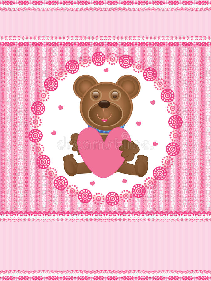 Amour Card_eps d'ours de nounours illustration stock