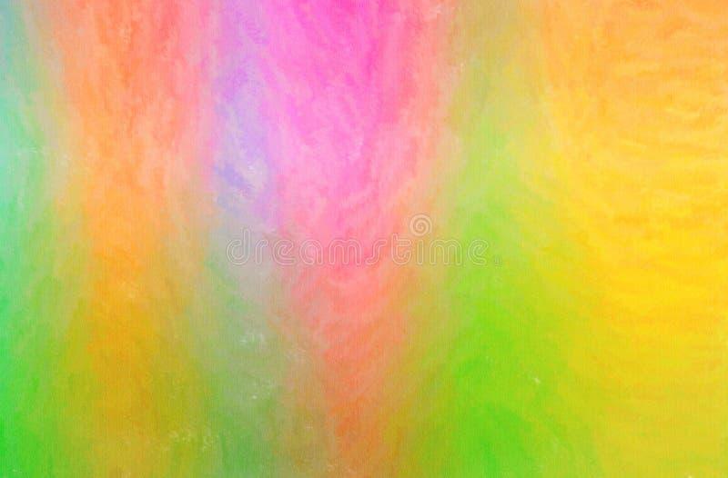 L'illustration de la cire verte, jaune et rouge crayonnent le fond horizontal illustration stock