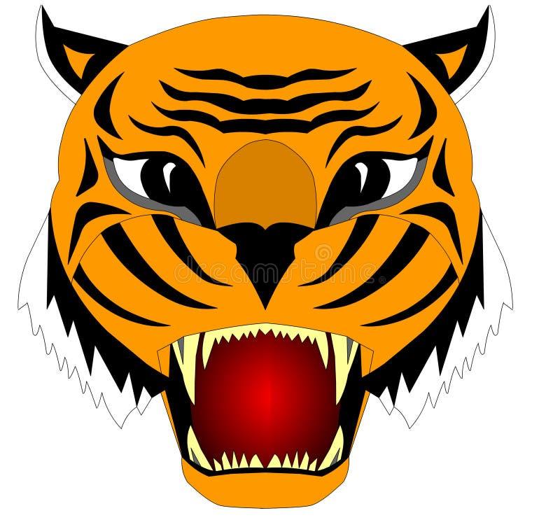 L'illustration de la tête du tigre cruel illustration stock
