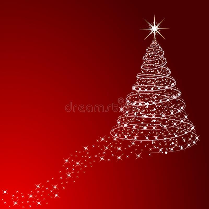 l'illustration de Noël stars le vecteur d'arbre illustration stock
