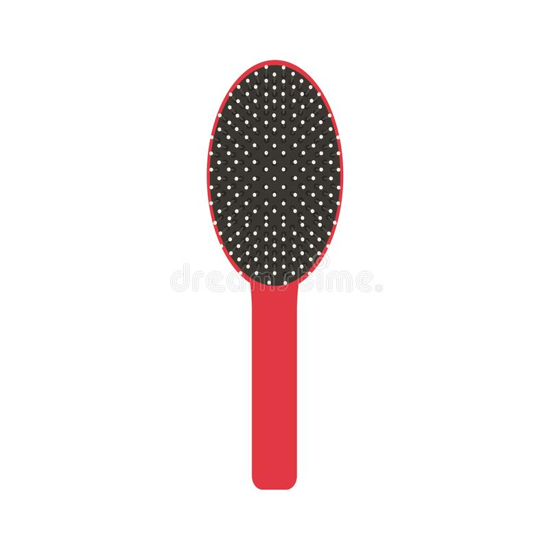 L'illustration de peigne d'icône de vecteur de brosse de cheveux a isolé le salon beauté illustration libre de droits