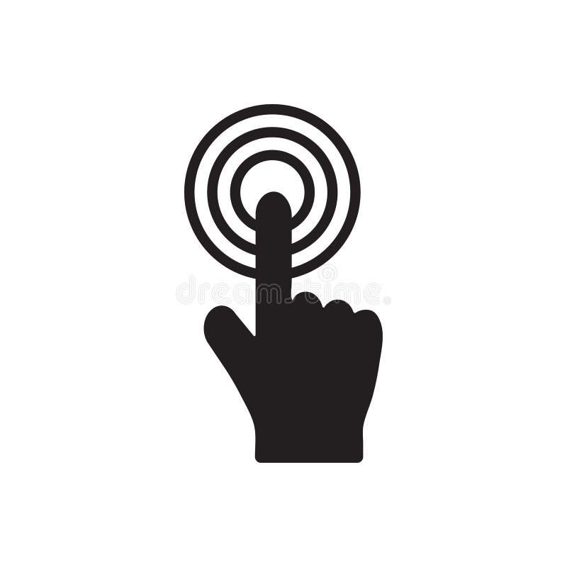 L'illustration de vecteur de calibre de conception d'icône de clic a isolé illustration stock