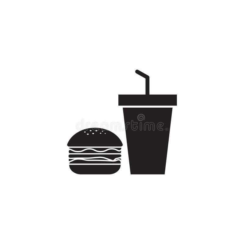 L'illustration de vecteur de calibre de conception d'icône de nourriture industrielle a isolé illustration libre de droits