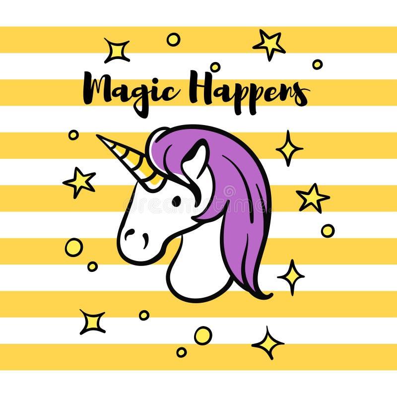 L'illustration de vecteur de la magie de slogan se produit illustration libre de droits