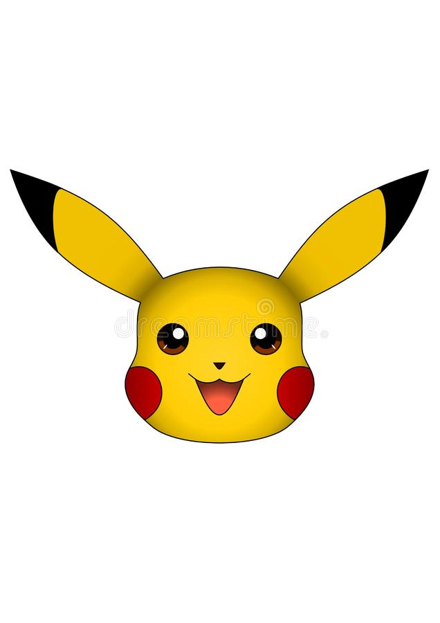 L'illustration de vecteur de Pikachu a isolé sur le fond blanc, pokemon illustration libre de droits