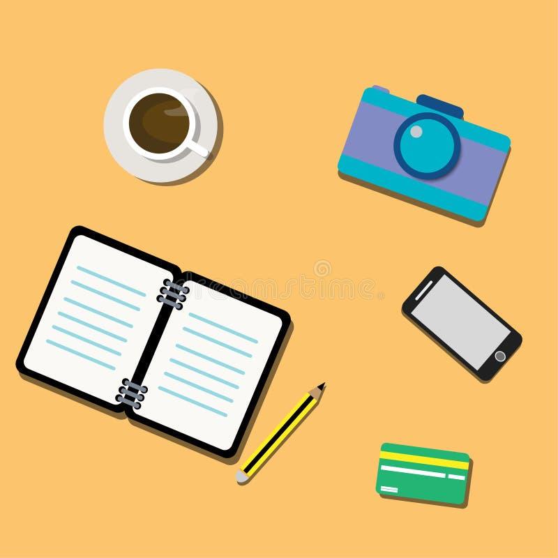 L'illustration est une photo sur la table illustration stock