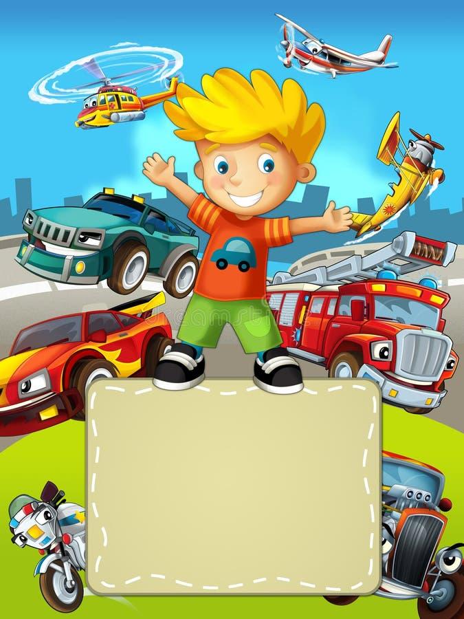 L'enfant et les jouets - illustration pour les enfants illustration libre de droits