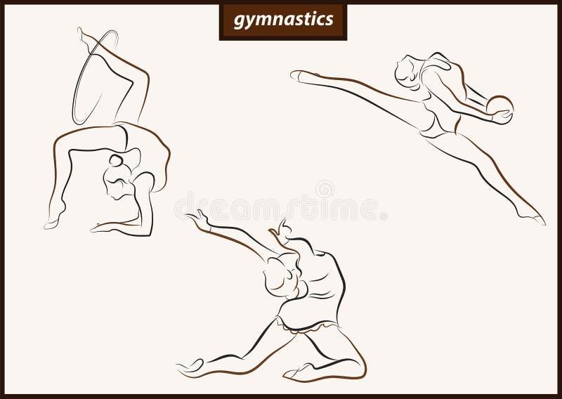L'illustration montre une gymnastique illustration stock