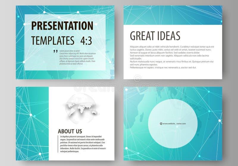 L'illustrazione astratta minimalistic di vettore della disposizione editabile degli scorrevoli della presentazione progetta l'aff illustrazione vettoriale