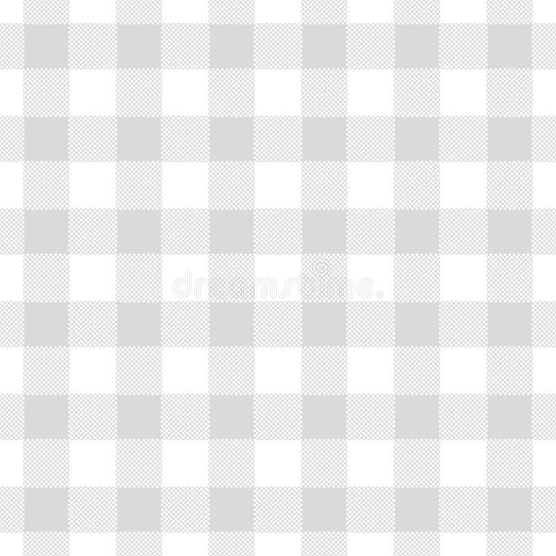 L'illustrazione astratta senza cuciture di grey chechkered il tabl del percalle royalty illustrazione gratis