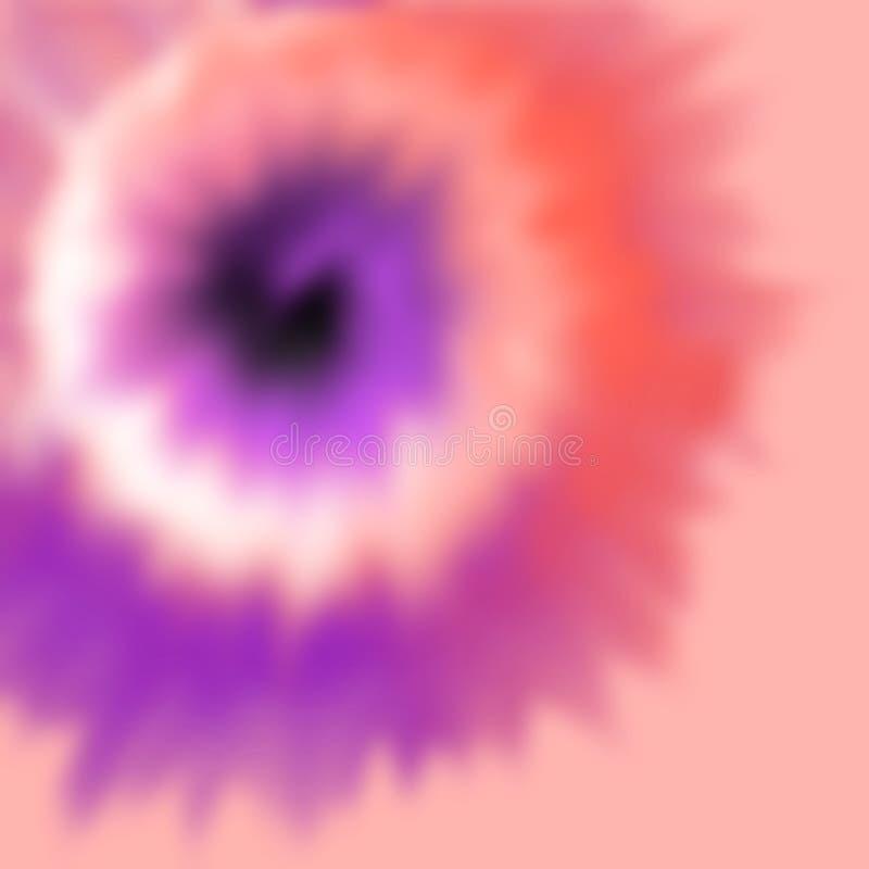 L'illustrazione che descrive il processo di morte del tessuto ha chiamato il legame che muore nei colori multipli illustrazione vettoriale