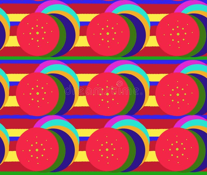 L'illustrazione circonda le strisce dei colori luminosi differenti per fissare la t fotografie stock libere da diritti