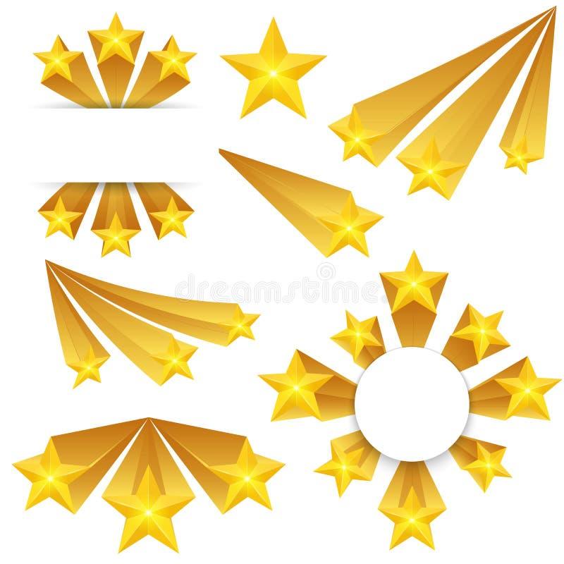 L'illustrazione creativa di vettore delle stelle ha scoppiato gli elementi isolati su fondo Flash del banger di progettazione di  illustrazione di stock