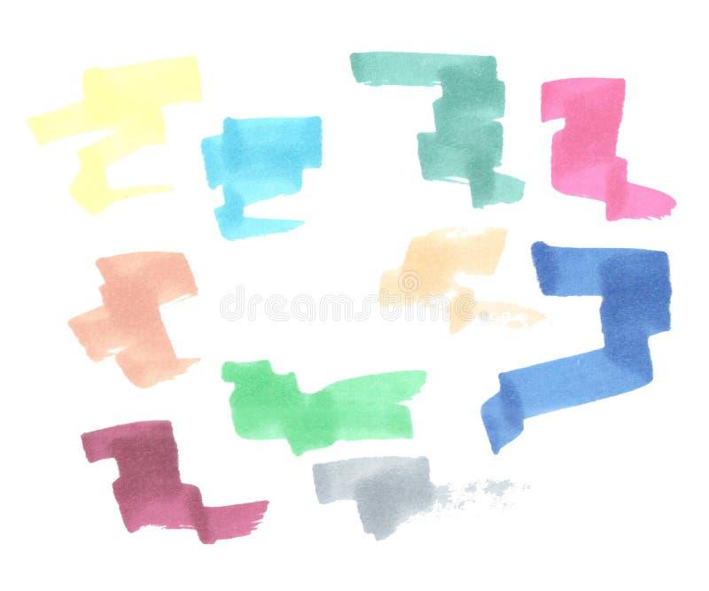 L'illustrazione degli indicatori ha colorato le linee illustrazione vettoriale