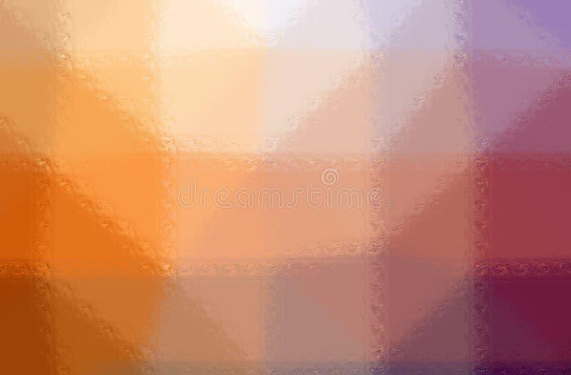 L'illustrazione dei blocchi di vetro arancio e porpora dipinge il fondo, digitalmente generato royalty illustrazione gratis