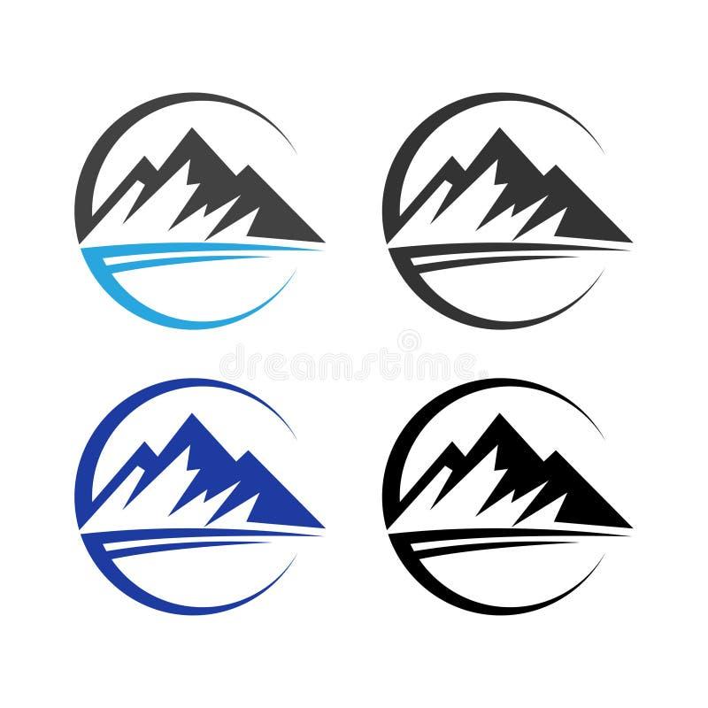 L'illustrazione del design del logo del vettore Minimalist Landscape Hills Peaks illustrazione vettoriale