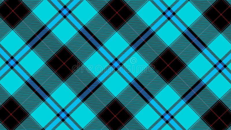 l'illustrazione del tessuto blu del tartan ha strutturato il fondo diagonale del modello fotografia stock