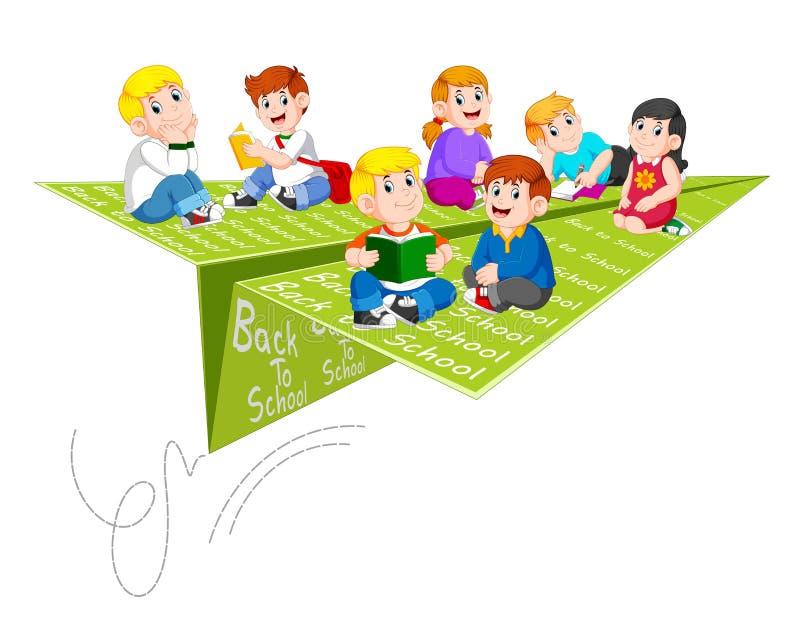 L'illustrazione dell'attività dello studente quando di nuovo a scuola royalty illustrazione gratis