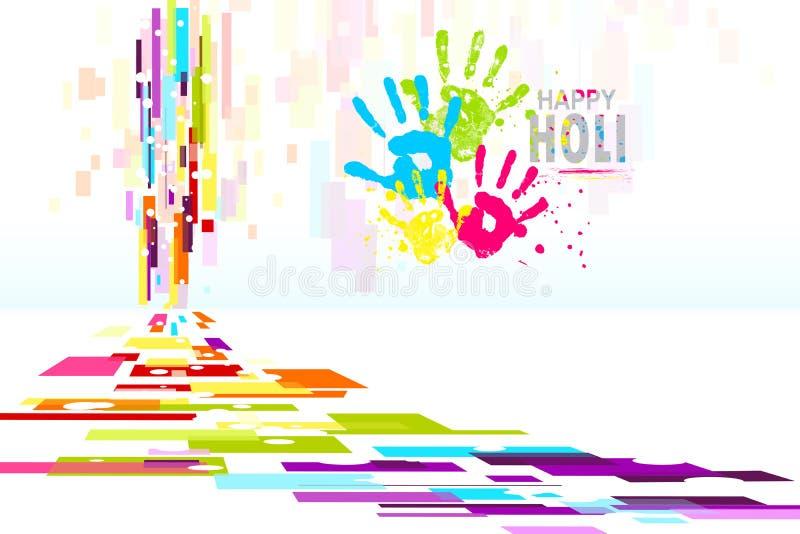 Carta da parati di Holi illustrazione di stock