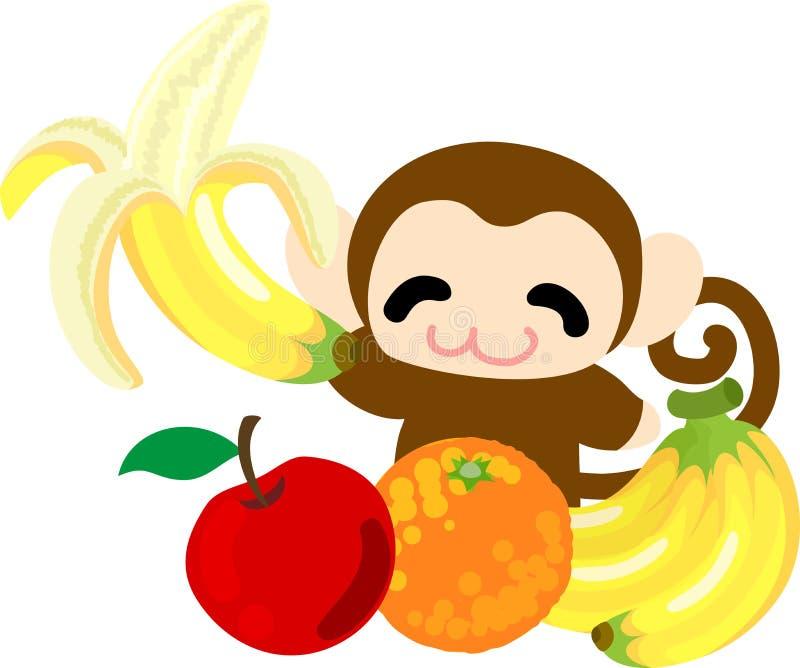L'illustrazione della scimmia graziosa royalty illustrazione gratis