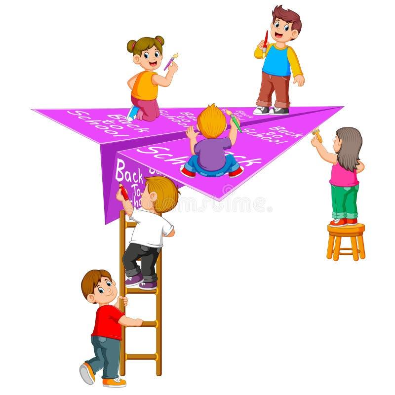 L'illustrazione dello studente che fa nel di nuovo alla scuola royalty illustrazione gratis