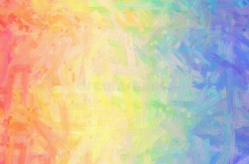 L'illustrazione di Bristie blu, rosa e giallo spazzola il fondo della pittura della pittura ad olio, digitalmente generato royalty illustrazione gratis