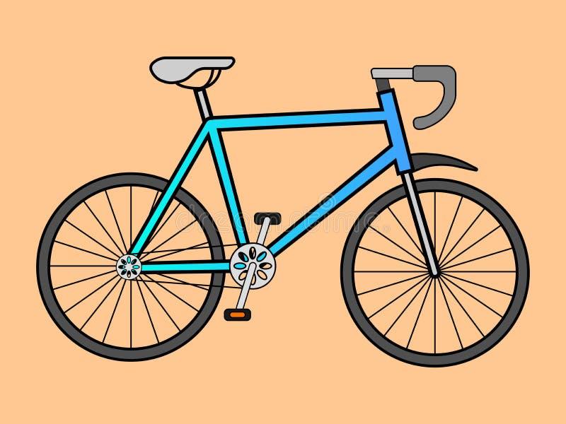 L'illustrazione di vettore degli sport va in bicicletta illustrazione vettoriale