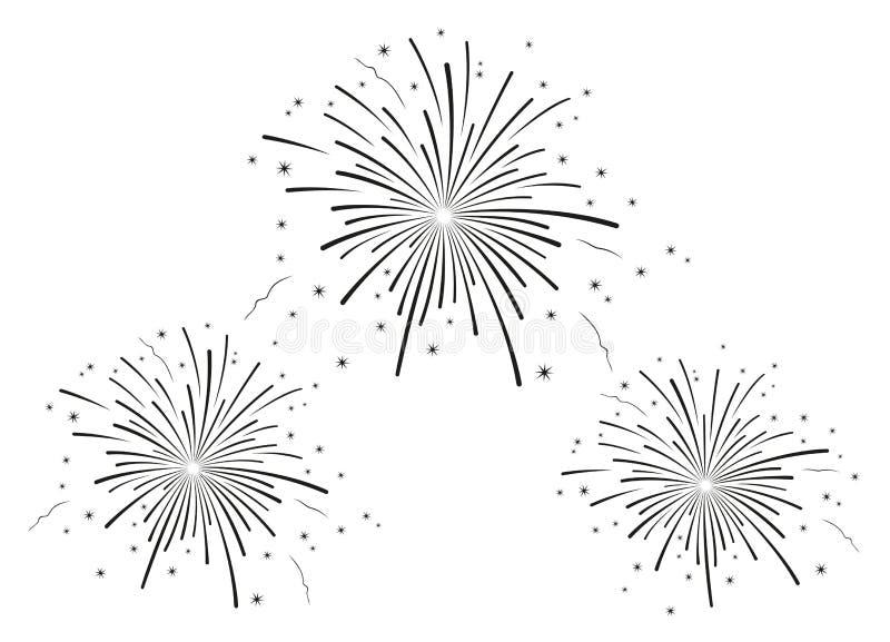 L'illustrazione di vettore dei fuochi d'artificio fotografia stock