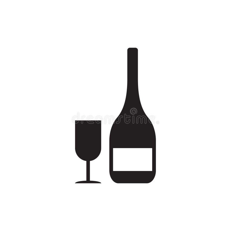 L'illustrazione di vettore del modello di progettazione dell'icona della bevanda del vino ha isolato illustrazione vettoriale