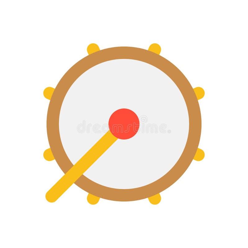 L'illustrazione di vettore del tamburo, il Ramadan ha collegato l'icona piana illustrazione di stock