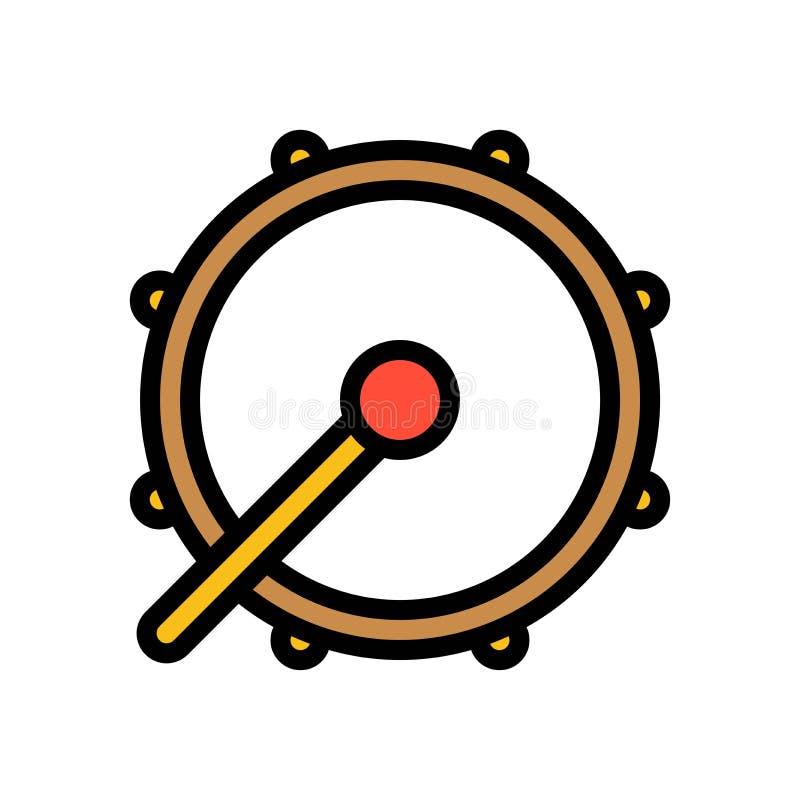 L'illustrazione di vettore del tamburo, il Ramadan ha collegato l'icona riempita royalty illustrazione gratis