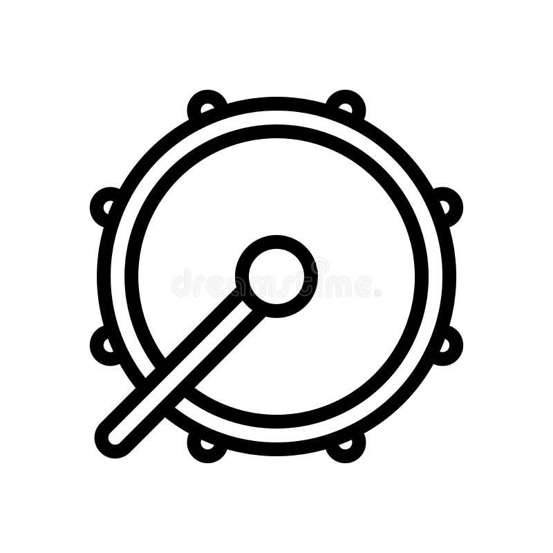 L'illustrazione di vettore del tamburo, il Ramadan ha collegato la linea icona royalty illustrazione gratis