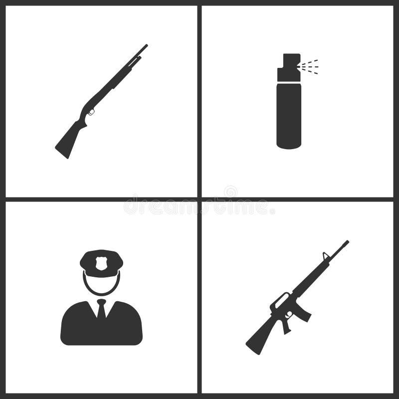 L'illustrazione di vettore ha messo le icone mediche Elementi icona della bottiglia della fiala della farmacia, del termometro e  illustrazione di stock