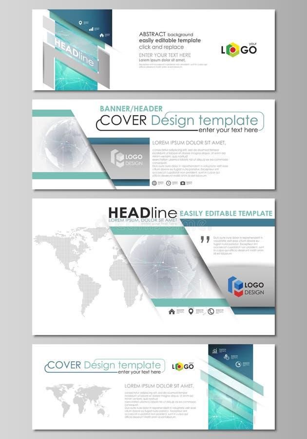 L'illustrazione minimalistic di vettore della disposizione editabile dei media sociali, intestazioni del email, modelli di proget royalty illustrazione gratis