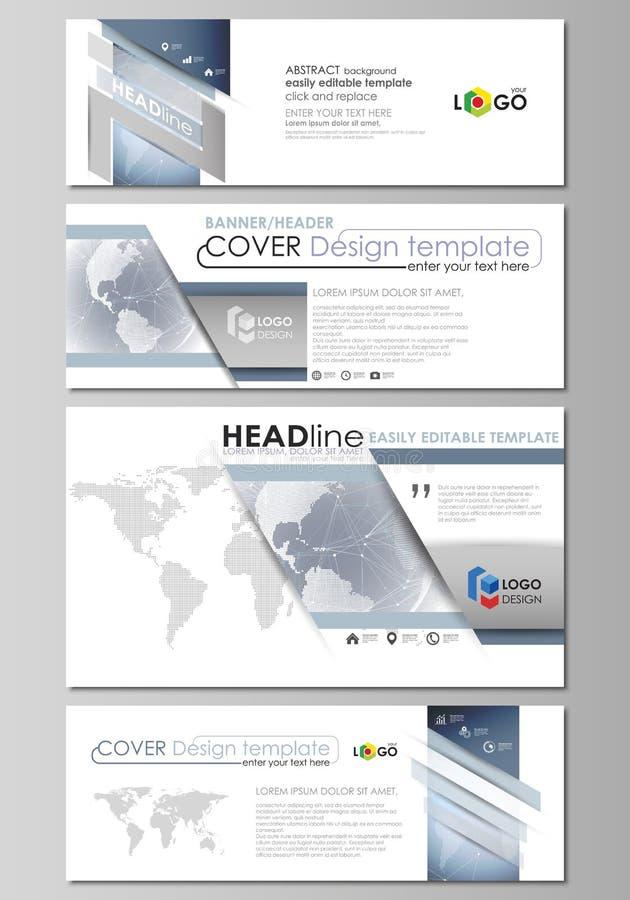 L'illustrazione minimalistic di vettore della disposizione editabile dei media sociali, intestazioni del email, modelli di proget illustrazione vettoriale