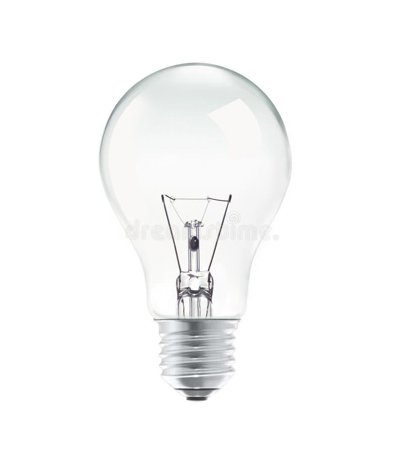l'image élevée d'ampoule du fond 3d a isolé le blanc léger de résolution images stock