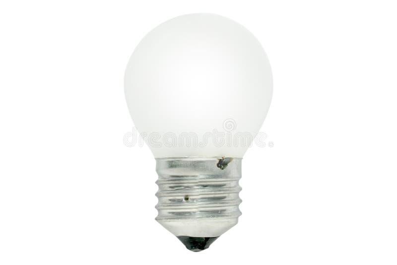 l'image élevée d'ampoule du fond 3d a isolé le blanc léger de résolution Ceci a le chemin de coupure images libres de droits