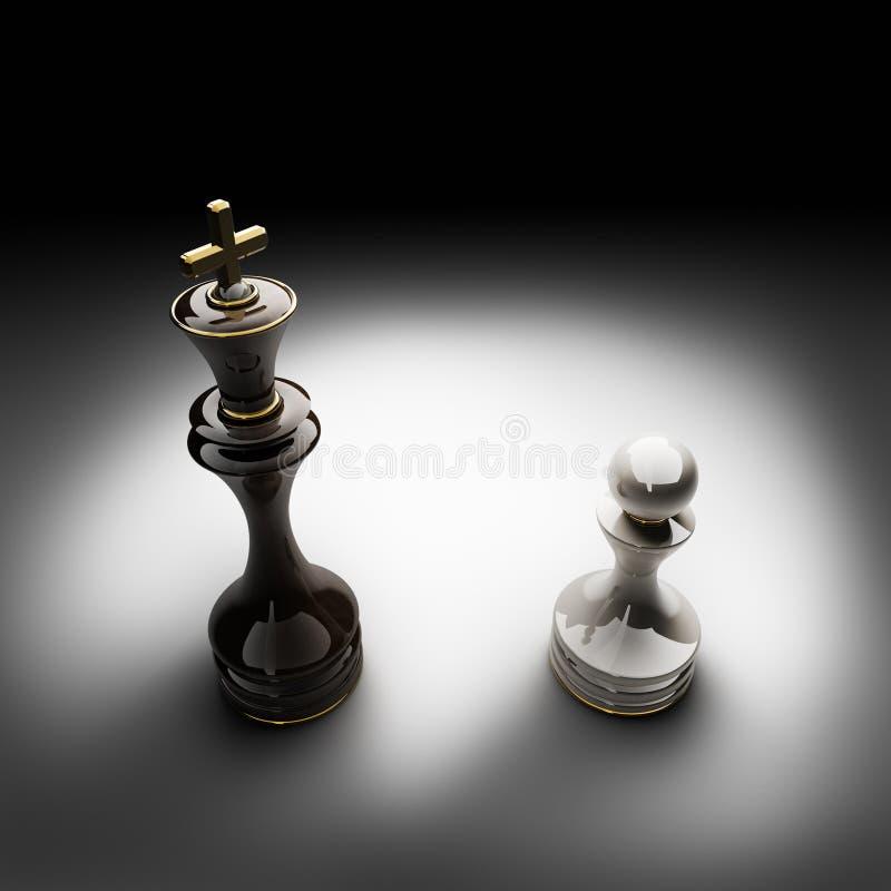 L'image 3D de concept d'échecs rendent illustration stock